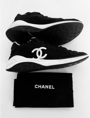 Chanel Lace-Up Sneaker black-white