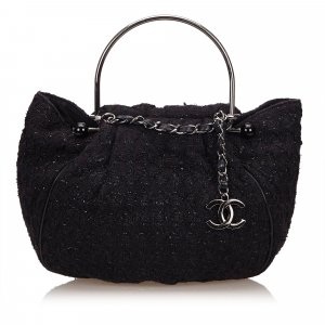 Chanel Sac à main noir laine