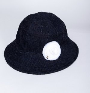 Chanel Woolen Hat white-dark blue