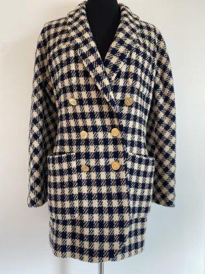 Chanel Kurtka oversize kremowy-ciemnoniebieski Tkanina z mieszanych włókien
