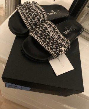 Chanel Tweed Slipper