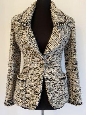 Chanel Tweed Blazer black-white wool