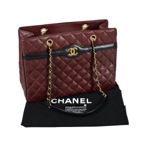 CHANEL Two Tone Tote Bag Leder Handtasche Timeless @mylovelyboutique.com
