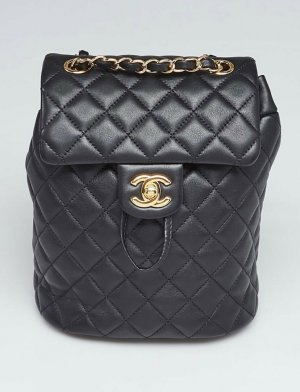 Chanel Crossbody bag black-gold-colored leather