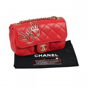 CHANEL Victory Peace Sign Emoji Mini Flap Bag Rot Timeless @mylovelyboutique.com
