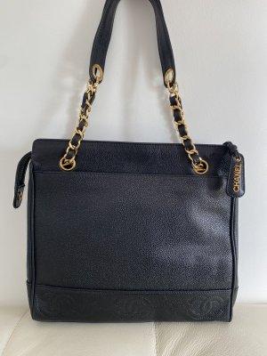 Chanel Torebka podręczna czarny-złoto Skóra