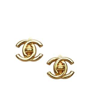 Chanel Vintage CC Turn-Lock Clip-On Earrings