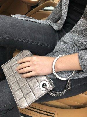 Chanel Vintage kleine Clutch Handtasche bronze gold metallik top Zustand wie neu