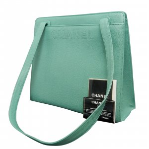 Chanel Shoulder Bag green leather