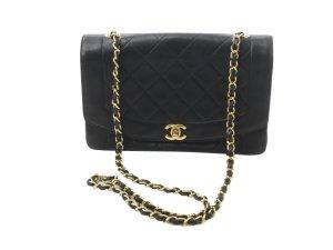 Chanel Schoudertas zwart Leer