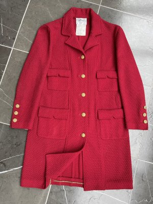 CHANEL Vintage Tweed Mantel Jacke D 38/40 M/L