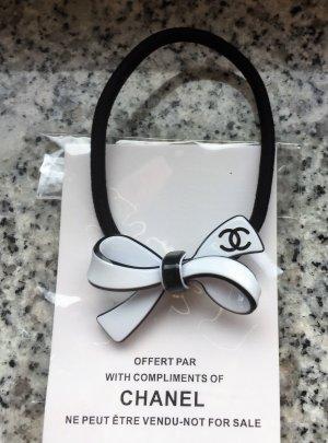 Chanel Cinta para el pelo blanco-negro