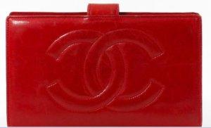 Chanel Portafogli rosso Pelle