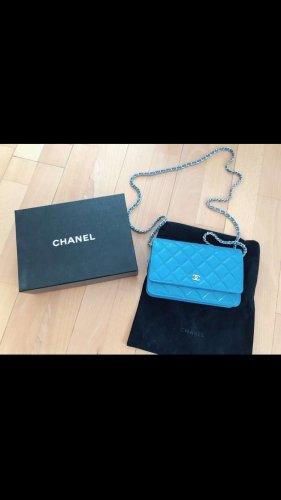 Chanel Borsa a spalla blu neon-blu