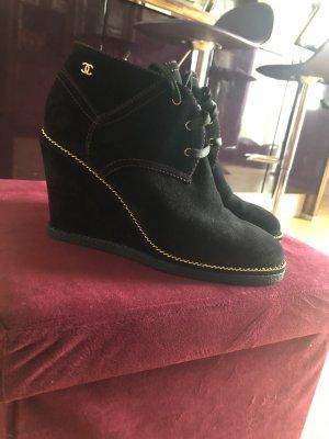 Chanel Bottines à lacets noir
