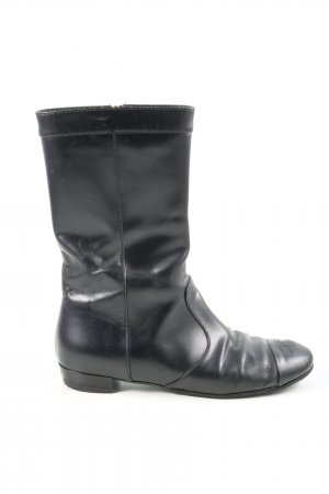 Chanel Wide Calf Boots black casual look