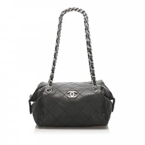 Chanel Wild Stitch Caviar Leather Shoulder Bag