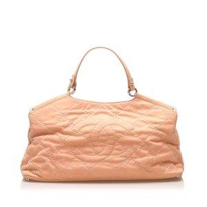 Chanel Wild Stitch CC Lambskin Leather Satchel