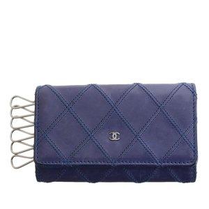 Chanel Étui porte-clés violet cuir