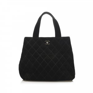 Chanel Wild Stitch CC Suede Leather Satchel