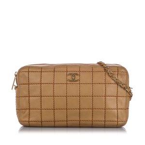Chanel Shoulder Bag light brown leather