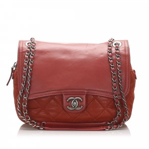 Chanel Wild Stitch Lambskin Leather Flap Bag