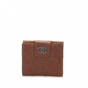 Chanel Wallet brown leather