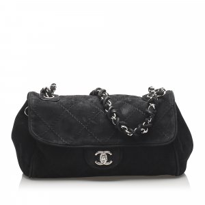 Chanel Wild Stitch Suede Flap Bag