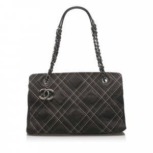 Chanel Wild Stitch Suede Shoulder Bag