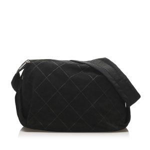Chanel Shoulder Bag black suede