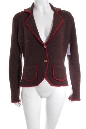 Chanel Woll-Blazer braun Casual-Look