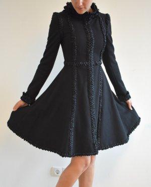 Chanel Wool Coat black wool