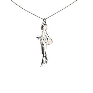 Chanel Naszyjnik srebrny Metal