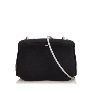 Chanel Sac bandoulière noir laine