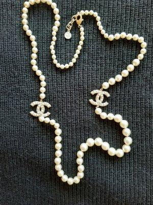 Chanel Naszyjnik w kolorze białej wełny