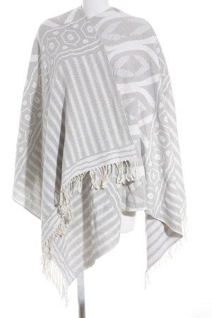 Change by White Label Poncho blanc-gris clair