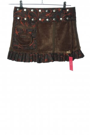 Chapati Miniskirt abstract pattern party style