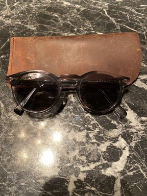 Round Sunglasses black-grey