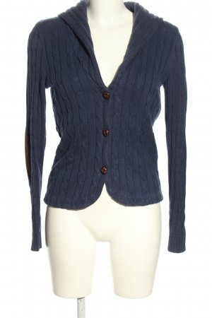Chaps Cardigan blue cable stitch casual look