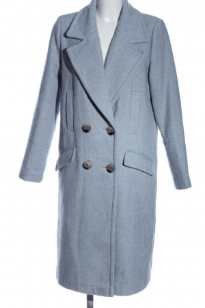 Chapter Floor-Lenght Coat blue-white striped pattern casual look