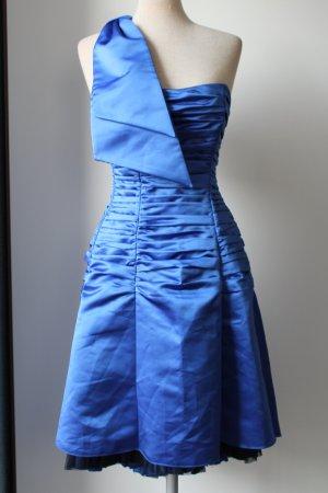 Charas Eyecatcher Ballkleid Cocktailkleid blau Oneshoulder Gr.UK 10 12 36 38 S M