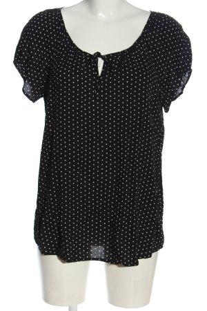 Chares vögele Short Sleeved Blouse black-white spot pattern casual look