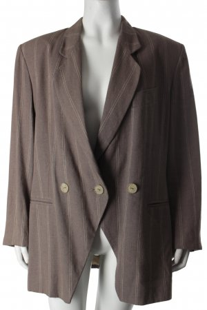Charisma Blazer grey brown-natural white striped pattern business style