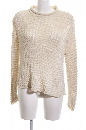 Charisma Coarse Knitted Sweater natural white graphic pattern casual look