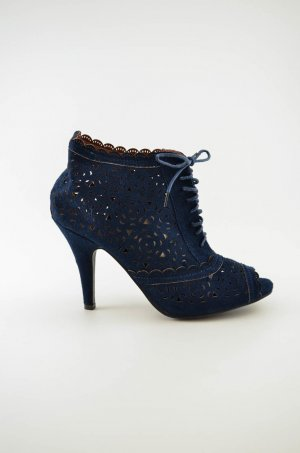 Peep Toe Booties dark blue-blue