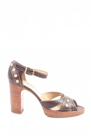 Charles Jourdan Platform Sandals brown elegant