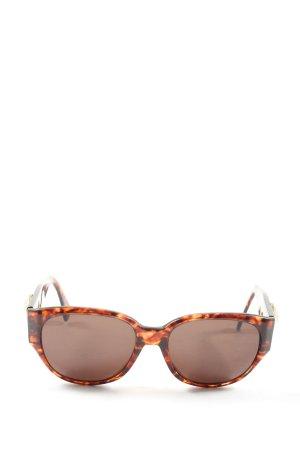 Charles Jourdan Ronde zonnebril bruin-licht Oranje abstract patroon