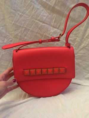 Charles & Keith Handbag bright red-gold-colored