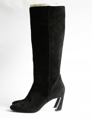 Charles & Keith Boots Suede Cord Gr. 38 schwarz 70s Look