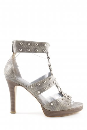 Charles & Keith High Heel Sandal light grey-brown animal pattern